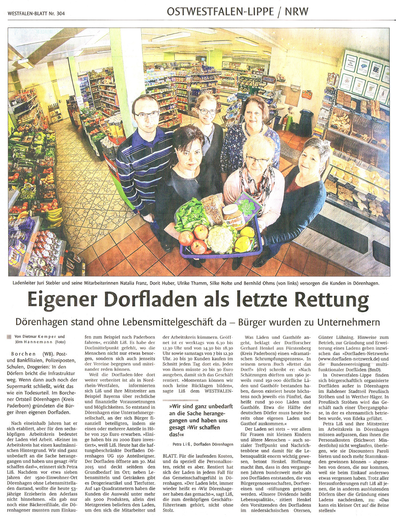 Dorfladen Dörenhagen - Downloads